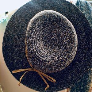 Hand woven floppy straw hat
